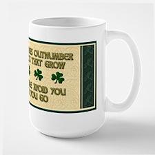 Shamrock Irish Blessing Mug