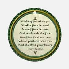 Irish Blessings Celtic Knots Ornament (Round)