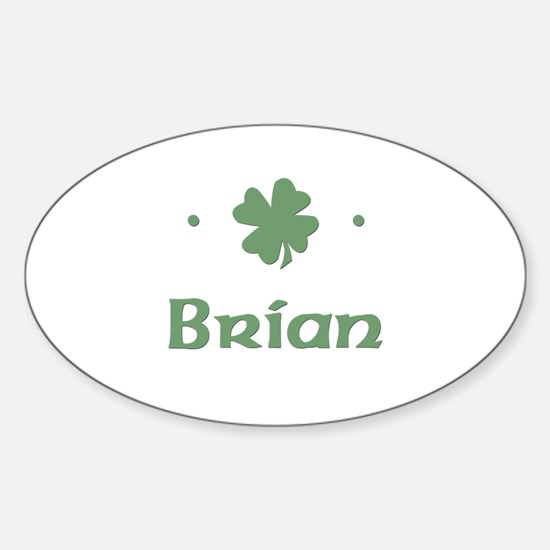 """Shamrock - Brian"" Oval Decal"