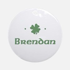"""Shamrock - Brendan"" Ornament (Round)"