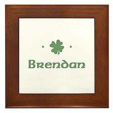"""""""Shamrock - Brendan"""" Framed Tile"""