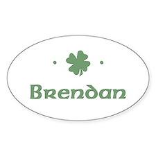 """""""Shamrock - Brendan"""" Oval Decal"""