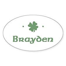"""Shamrock - Brayden"" Oval Decal"