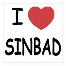 "SINBAD Square Car Magnet 3"" x 3"""