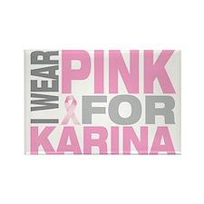 I-wear-pink-for-KARINA Rectangle Magnet