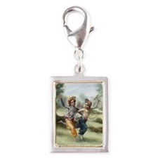 greeting_card_ta0709 Silver Portrait Charm