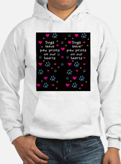 Dogs Leave Paw Prints on Our Hea Jumper Hoody