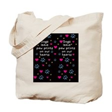 Dogs Leave Paw Prints on Our Hearts Tote Bag