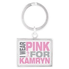 I-wear-pink-for-KAMRYN Landscape Keychain
