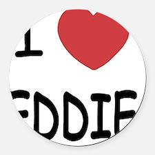 EDDIE Round Car Magnet