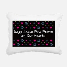 Dogs Leave Paw Prints on Rectangular Canvas Pillow