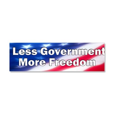 10x3_less-government-more-freedo Car Magnet 10 x 3