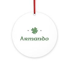 """Shamrock - Armando"" Ornament (Round)"