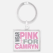 I-wear-pink-for-CAMRYN Landscape Keychain