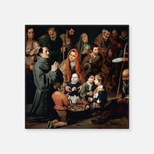 """Bartolome Esteban (1617-168 Square Sticker 3"""" x 3"""""""