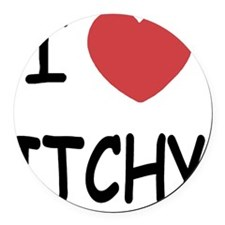 ITCHY Round Car Magnet