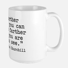 Churchill quote Large Mug