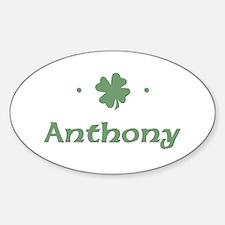 """""""Shamrock - Anthony"""" Oval Decal"""