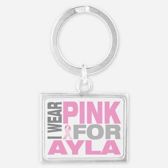 I-wear-pink-for-AYLA Landscape Keychain