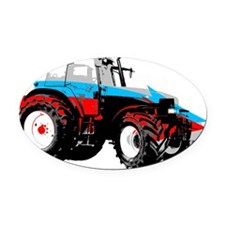 Tractor Style Oval Car Magnet