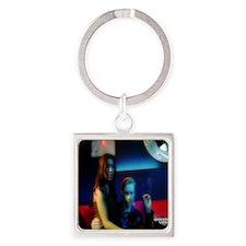 DV Lobby Card 3 Square Keychain