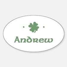 """""""Shamrock - Andrew"""" Oval Decal"""