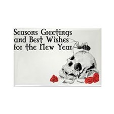 Verse for inside Gothic Greetings Rectangle Magnet