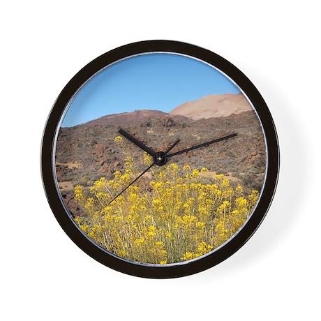 Endemic high elevation shrub with yello Wall Clock
