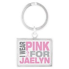 I-wear-pink-for-JAELYN Landscape Keychain