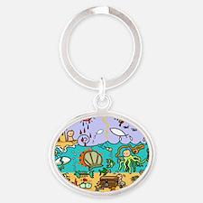 See Life- 10 X 10 Oval Keychain