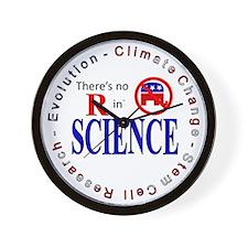 SCIENCE RWB.gif Wall Clock