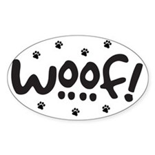 Woof! Dog-Themed Decal