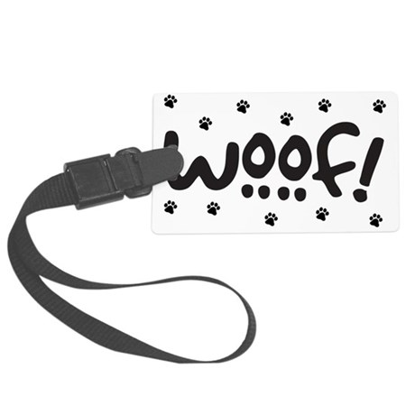 Woof! Dog-Themed Large Luggage Tag