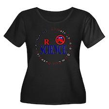 SCIENCE  Women's Plus Size Dark Scoop Neck T-Shirt