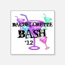 "12bachelorettebashmartinigl Square Sticker 3"" x 3"""