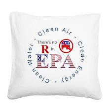 EPA RWB.gif Square Canvas Pillow