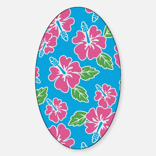 tropical_1_kindle Sticker (Oval)