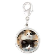 shelter-kittensDSC05383a Silver Round Charm