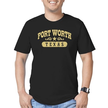 Fort Worth Texas Men's Fitted T-Shirt (dark)