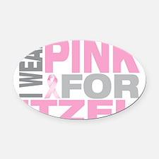 I-wear-pink-for-ITZEL Oval Car Magnet