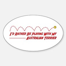 Terrier Play Oval Decal