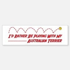 Terrier Play Bumper Bumper Bumper Sticker