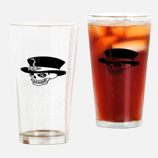 greedy one percent dead w Drinking Glass