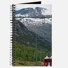 Diavolezza Peak, Switzerland. Train and st Journal