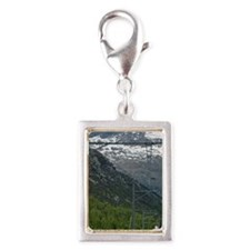 Diavolezza Peak, Switzerland Silver Portrait Charm