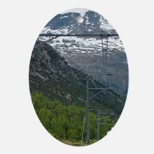 Diavolezza Peak, Switzerland. Train  Oval Ornament