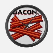 bacon-cap-2011 Large Wall Clock