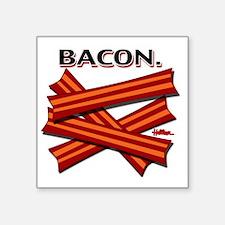 """bacon-cap-2011b Square Sticker 3"""" x 3"""""""