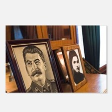 Portraits of Stalin and w Postcards (Package of 8)