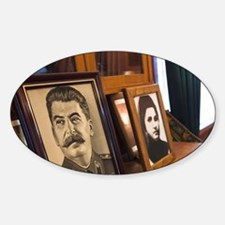 Portraits of Stalin and wife Nadezh Decal